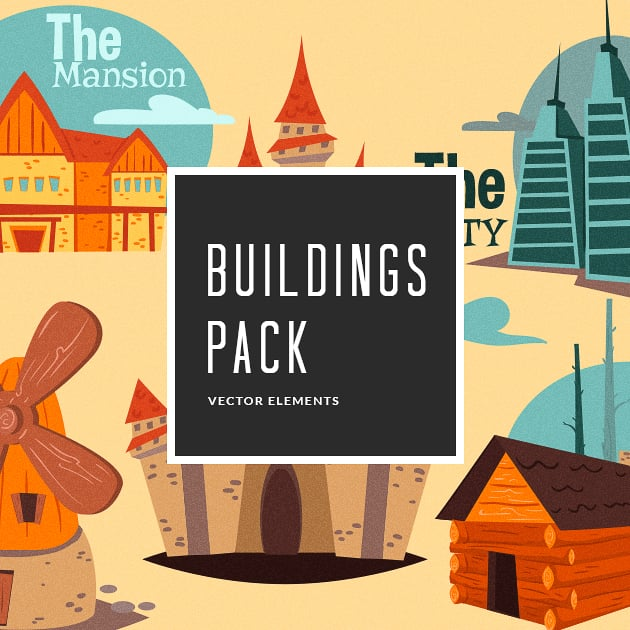 The Ultimate Creative Bundle - designtnt vector buildings small