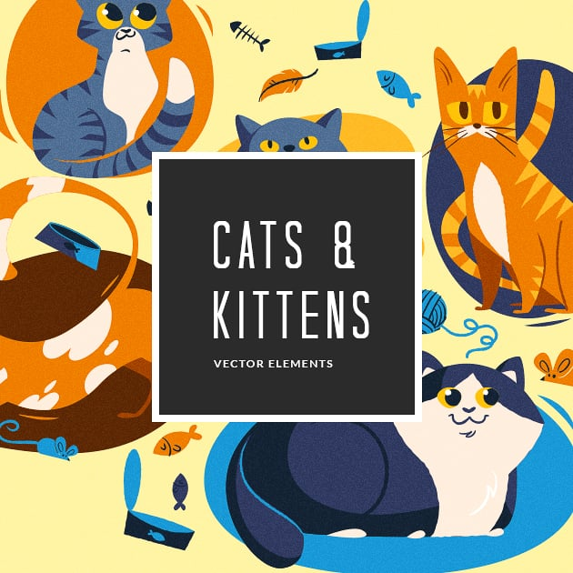 The Ultimate Creative Bundle - designtnt vector cats small