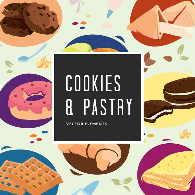 The Ultimate Creative Bundle - designtnt vector cookies pastry small