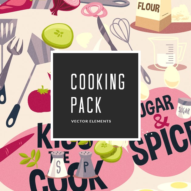 The Ultimate Creative Bundle - designtnt vector cooking small