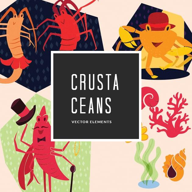 The Ultimate Creative Bundle - designtnt vector crustaceans 9 small