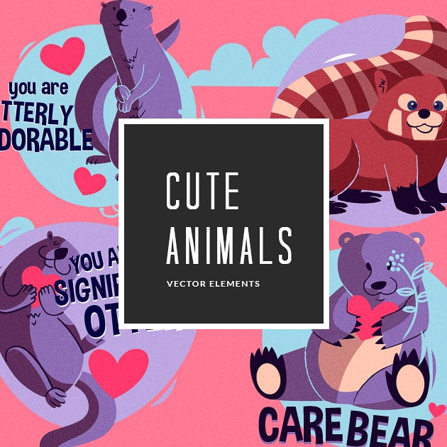 The Ultimate Creative Bundle - designtnt vector cute animals small