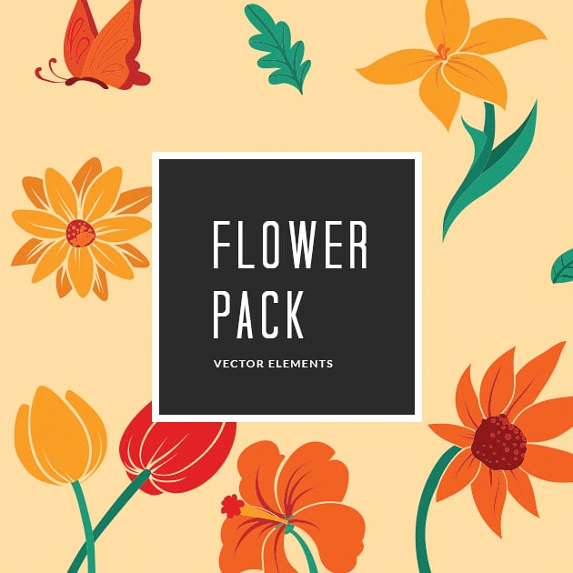 The Ultimate Creative Bundle - designtnt vector flower 10 small