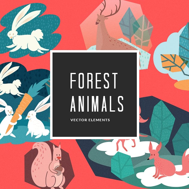 The Ultimate Creative Bundle - designtnt vector forest animals 2 small