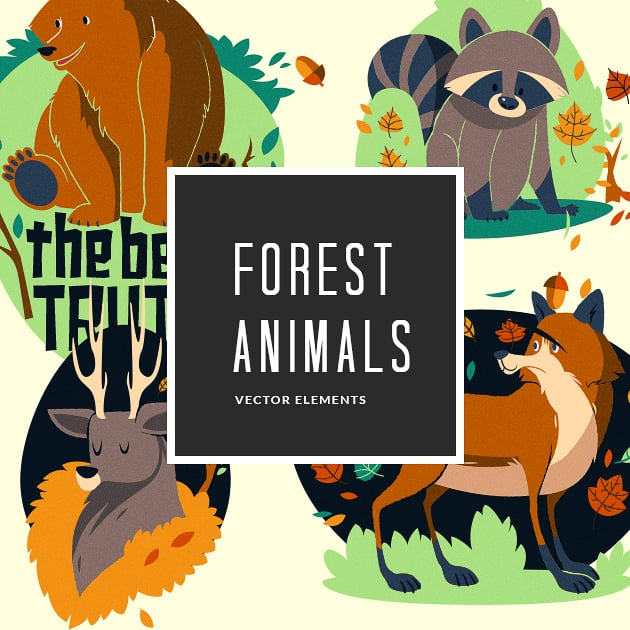 The Ultimate Creative Bundle - designtnt vector forest animals small