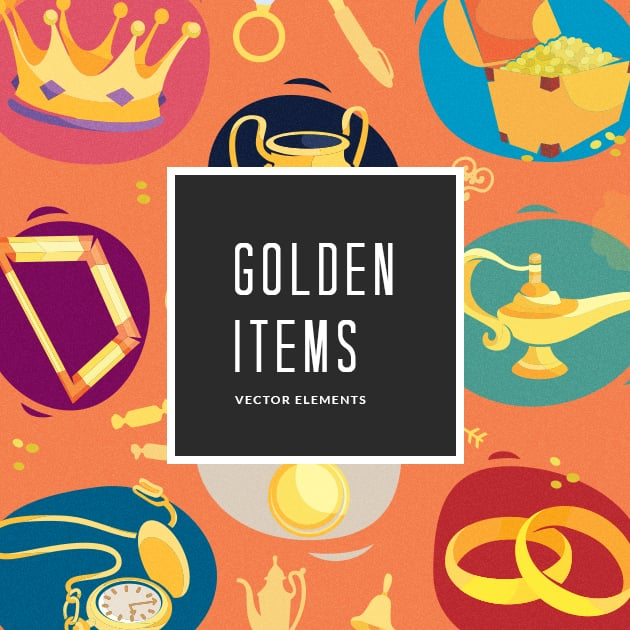The Ultimate Creative Bundle - designtnt vector golden items small