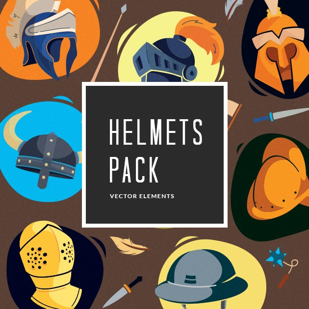 The Ultimate Creative Bundle - designtnt vector helmets small