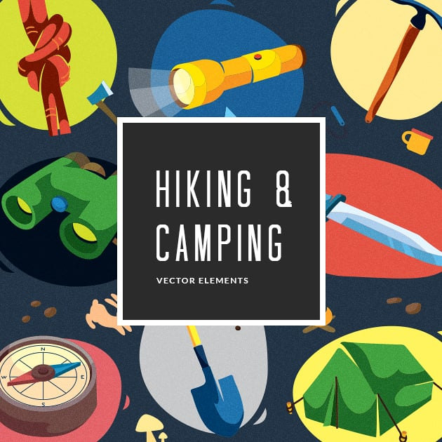 The Ultimate Creative Bundle - designtnt vector hiking camping small