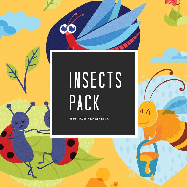 The Ultimate Creative Bundle - designtnt vector insects 2 small
