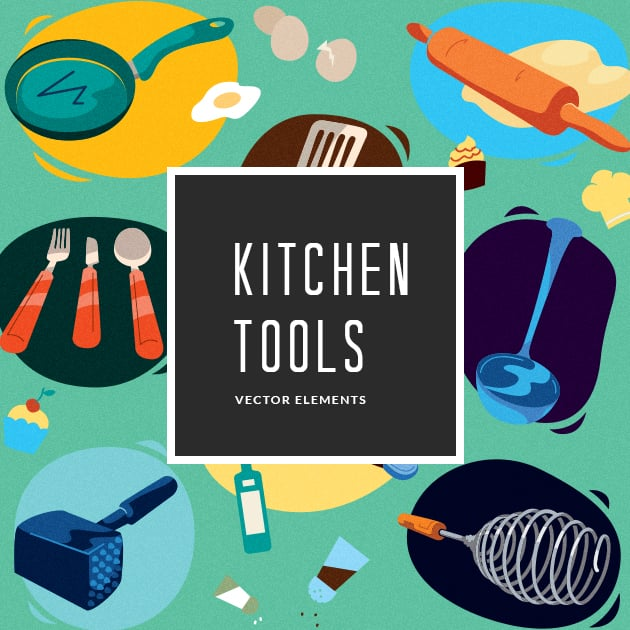 The Ultimate Creative Bundle - designtnt vector kitchen tools small