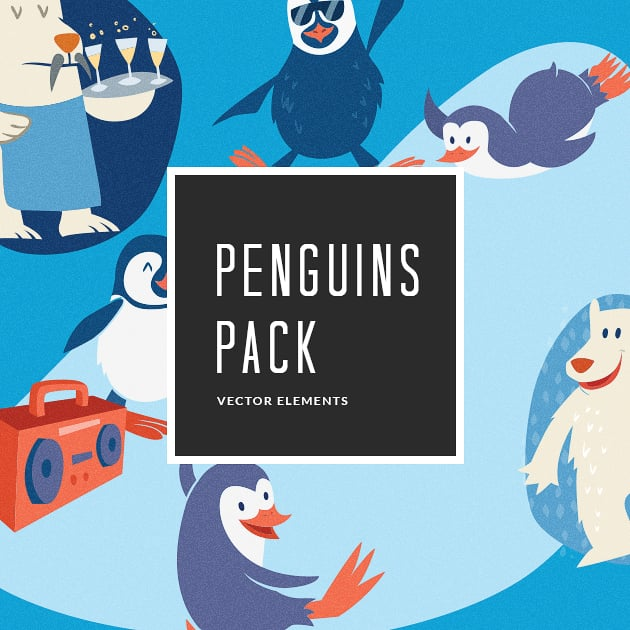 The Ultimate Creative Bundle - designtnt vector penguins 7 small