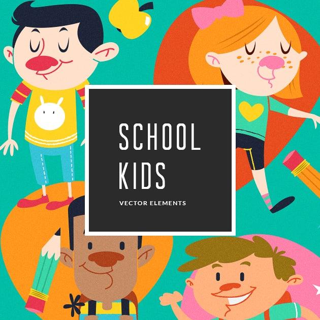 The Ultimate Creative Bundle - designtnt vector school kids small
