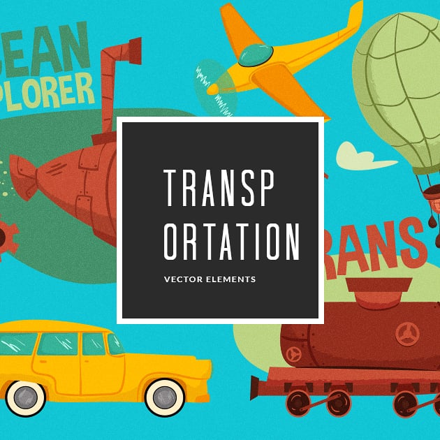 The Ultimate Creative Bundle - designtnt vector transportation small