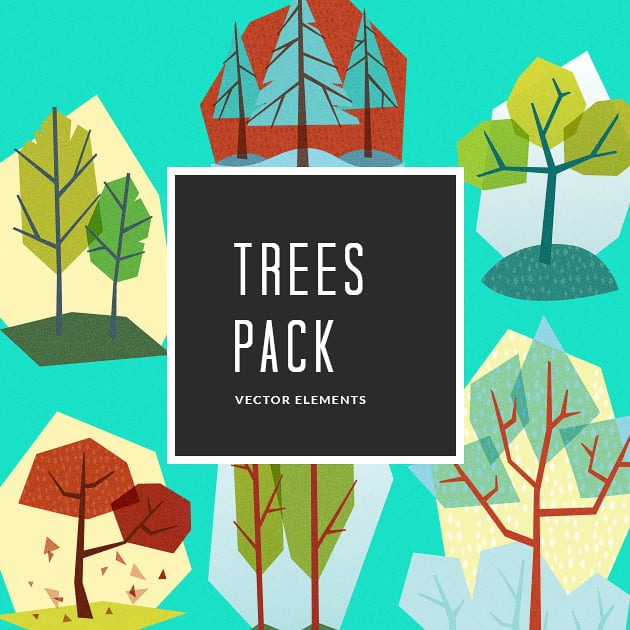 The Ultimate Creative Bundle - designtnt vector trees 3 small