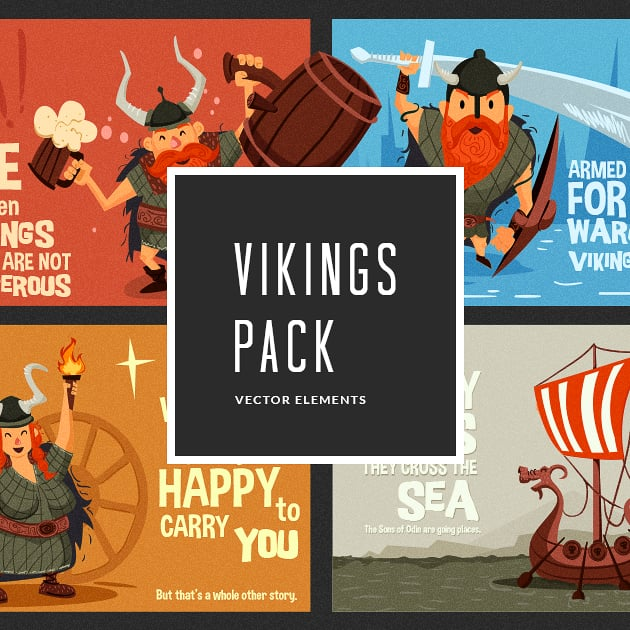 The Ultimate Creative Bundle - designtnt vector vikings small