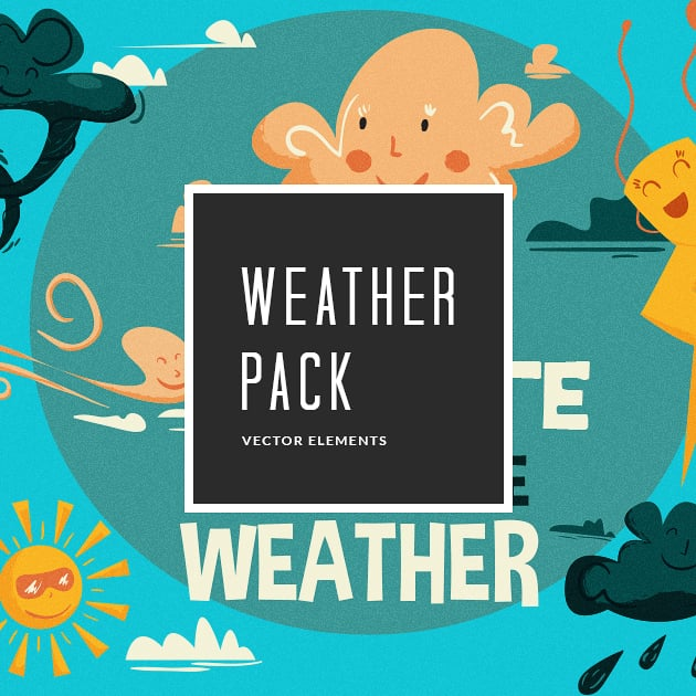 The Ultimate Creative Bundle - designtnt vector weather small