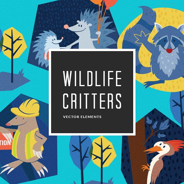 The Ultimate Creative Bundle - designtnt vector wildlife critters 6 small