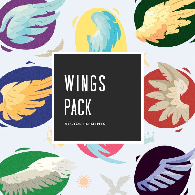 The Ultimate Creative Bundle - designtnt vector wings small