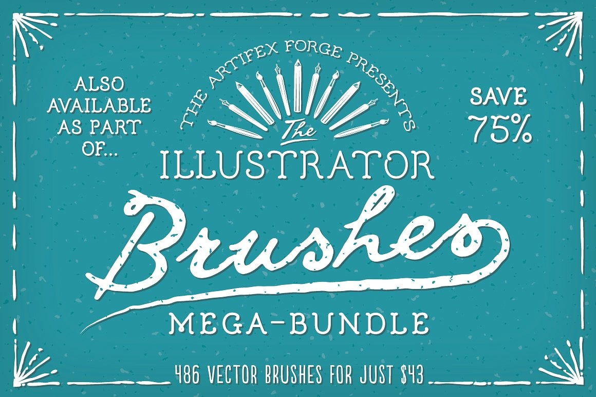 Vintage Bundle: Text Styles and Brushes - mega brush bundle also available