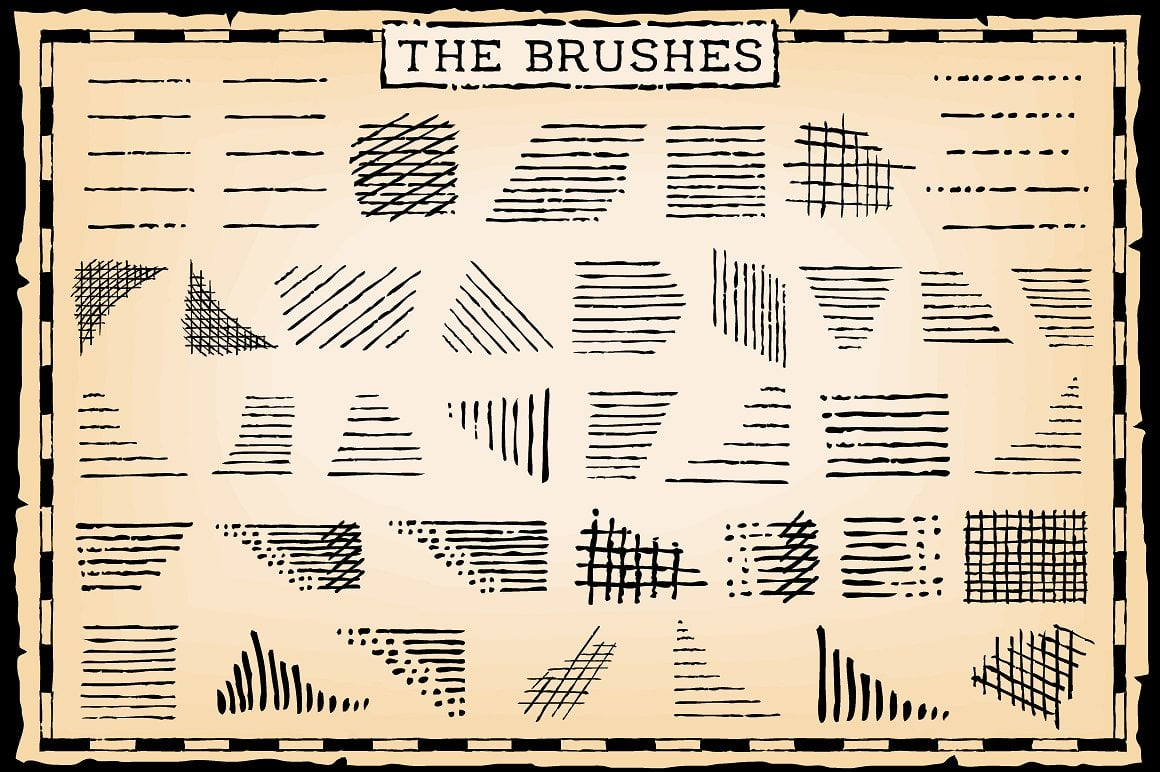 Vintage Bundle: Text Styles and Brushes - pen and ink 2