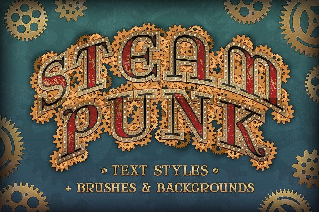 Steam Punk Text Styles + Bonus - steam punk preview 1
