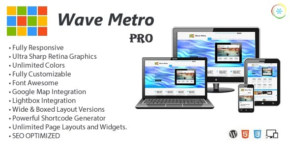 100 Premium WP Themes, Bootstrap Templates, HTML5 Apps & More – Only $29 - wave metro pro