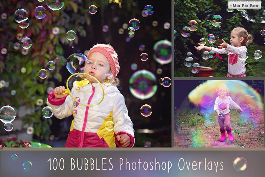 100 Bubbles Photoshop Overlays