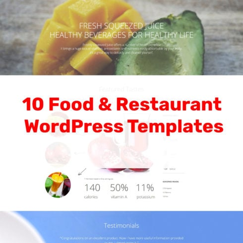 10 Restaurant WordPress Themes - 490 7 490x490