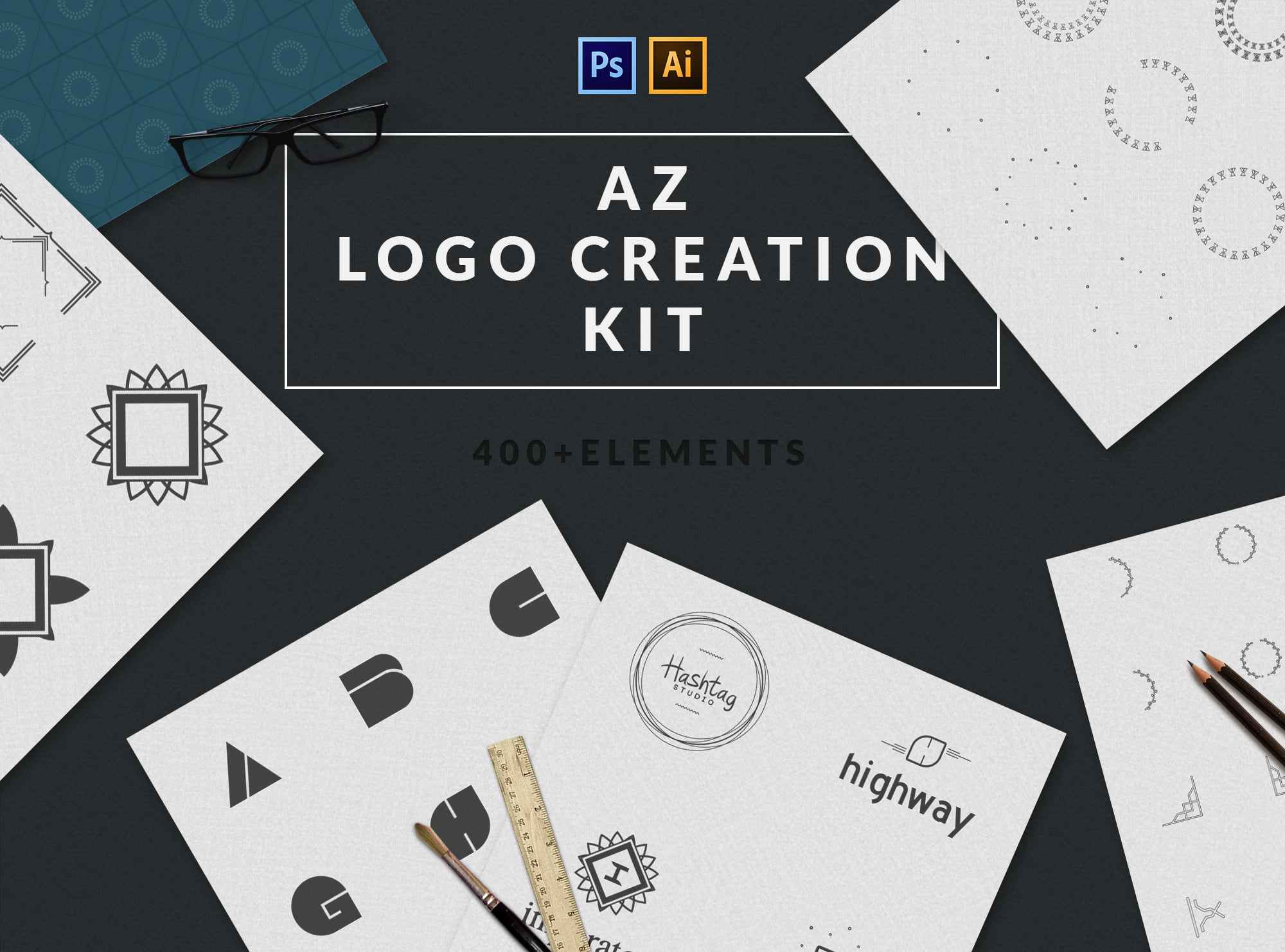 4 in 1 Logo Design Bundle - The sky is the limit - Pr