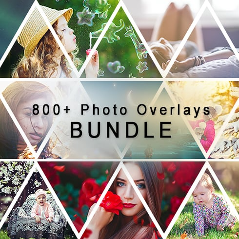 800+ Photo Overlays PNG Bundle - cover 1