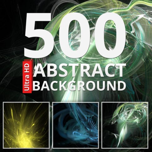 500 Abstract Backgrounds Bundle - just $9 - image left 490x490px 1 490x490