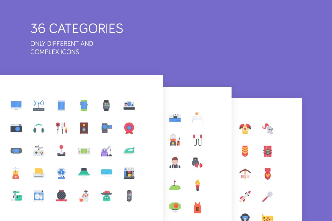 2000 Flat Icons with 88% OFF! - 3 2