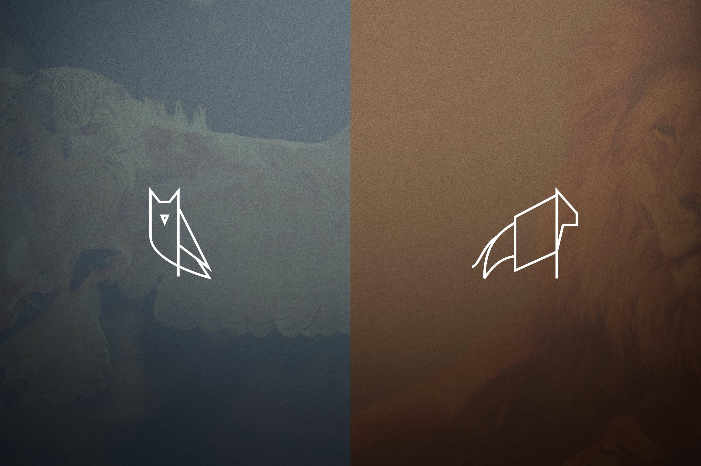17 Geometric Animal Icons and Logos - 6
