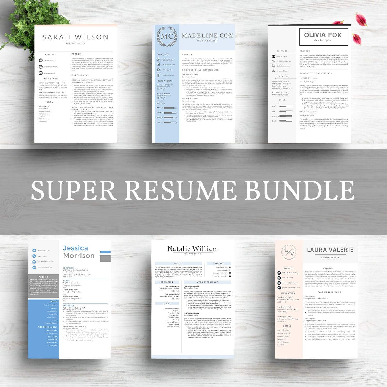 Super Bundle 12 Best Selling Resume Template - Bundle.jpg3