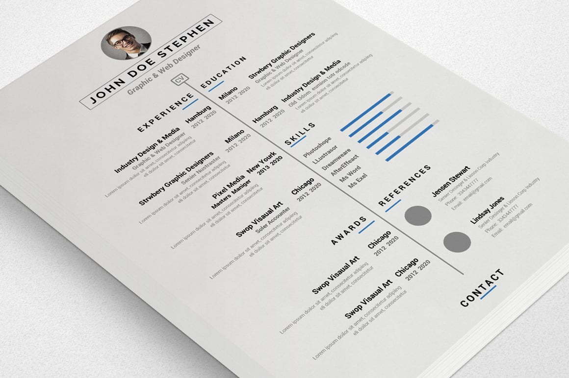 50+ Best Free Resume Templates in 2020 - Preview 01