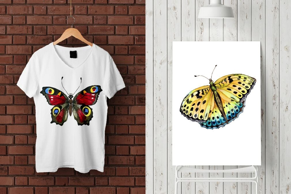 19 Watercolor Butterflies in Vector Format