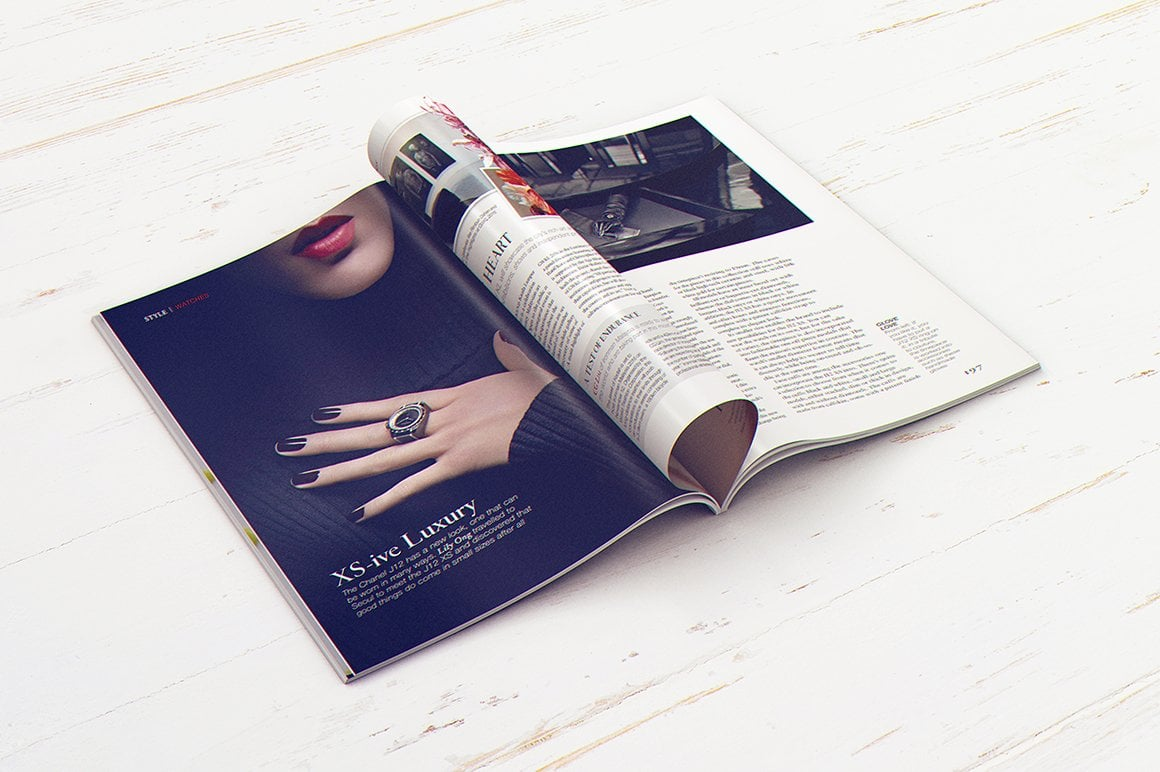 29 Magazine Brochure MockUps (.PSD) + 20 Background Textures. Best Price! - 010