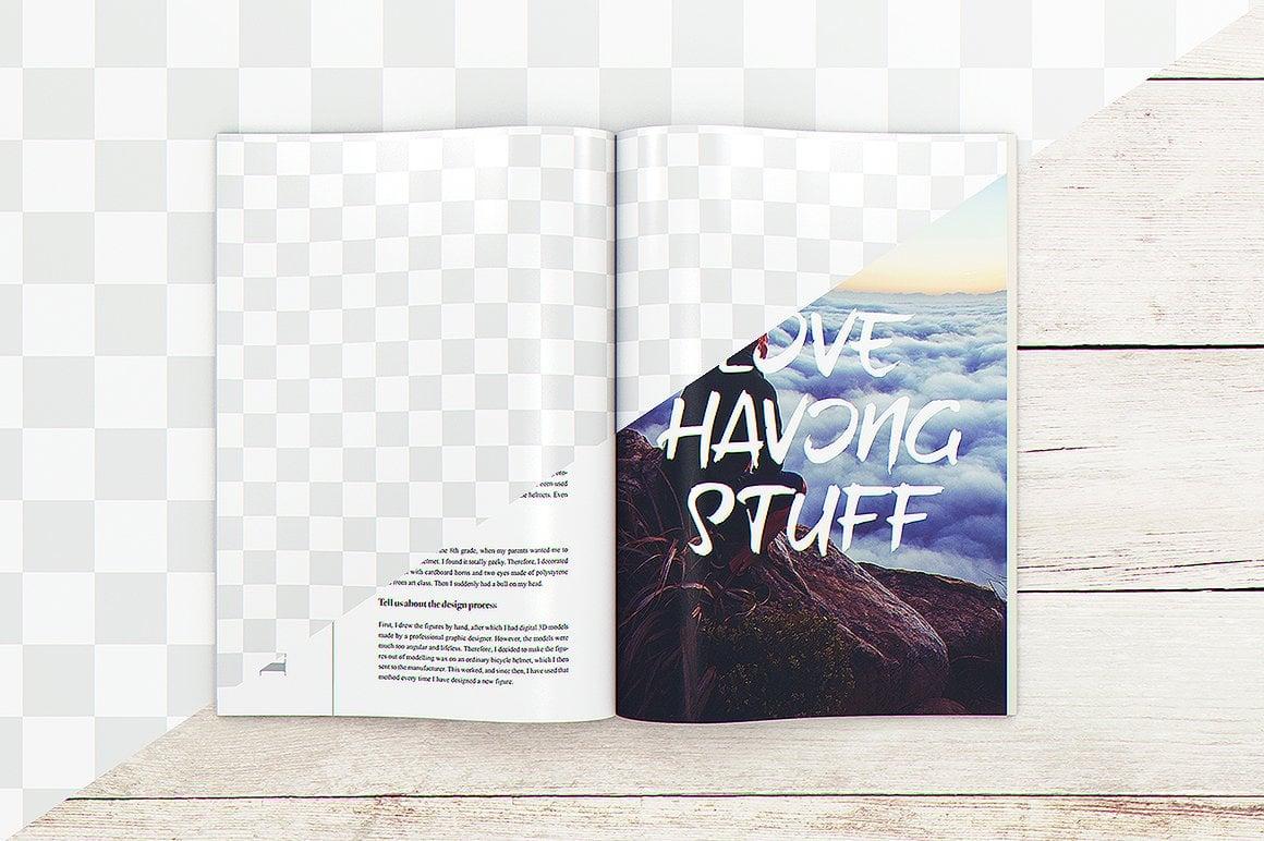 29 Magazine Brochure MockUps (.PSD) + 20 Background Textures. Best Price! - 017