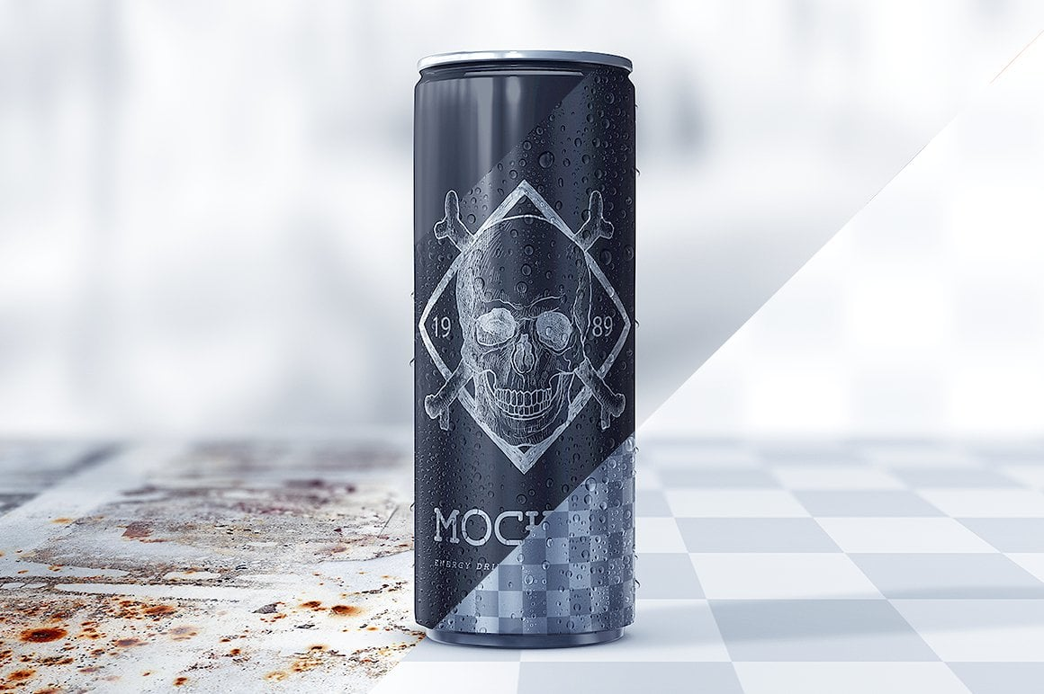 Energy Drink Mockup Bundle 2020