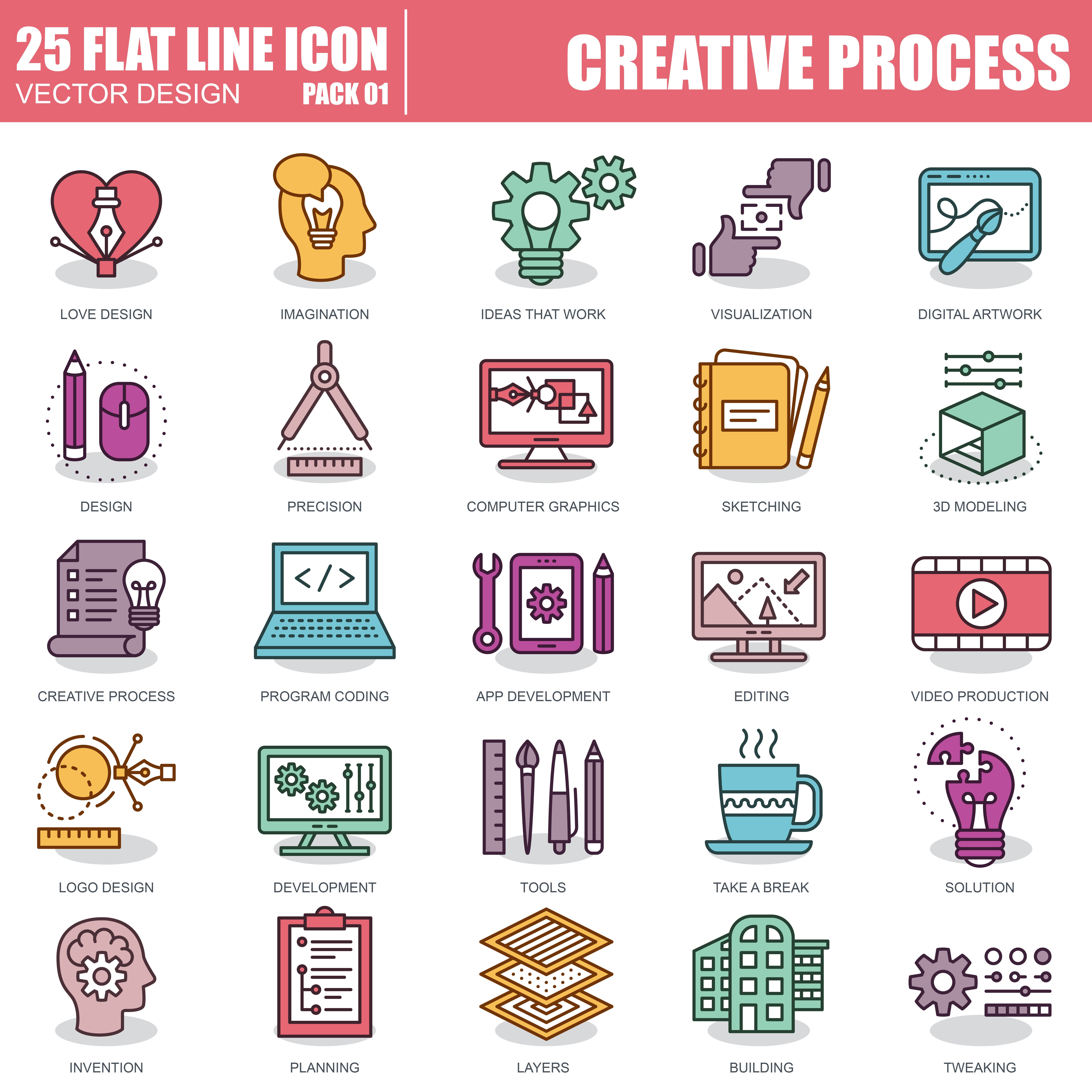1000 Business Line Icons - just $22 - 1 5