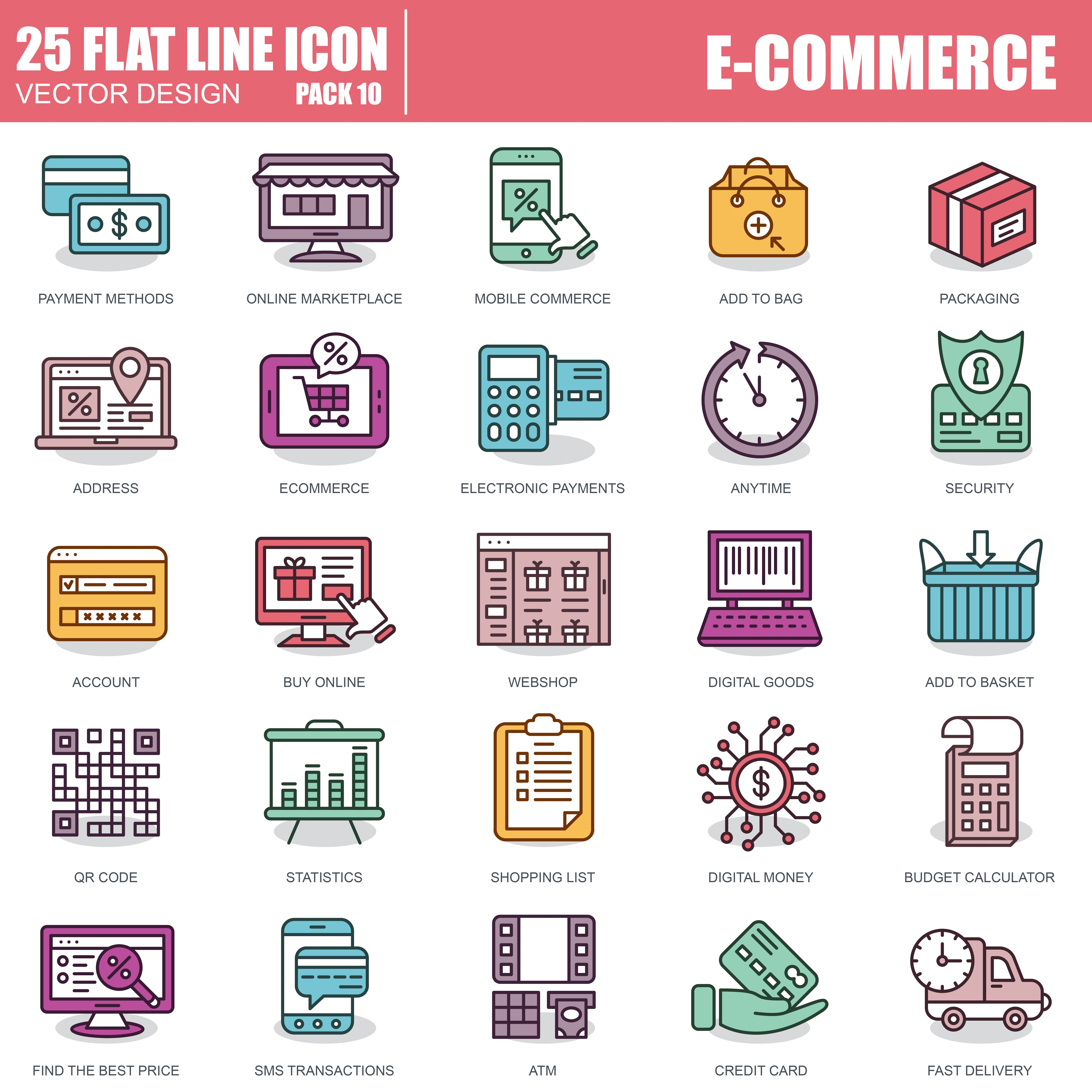 1000 Business Line Icons - just $22 - 10 1