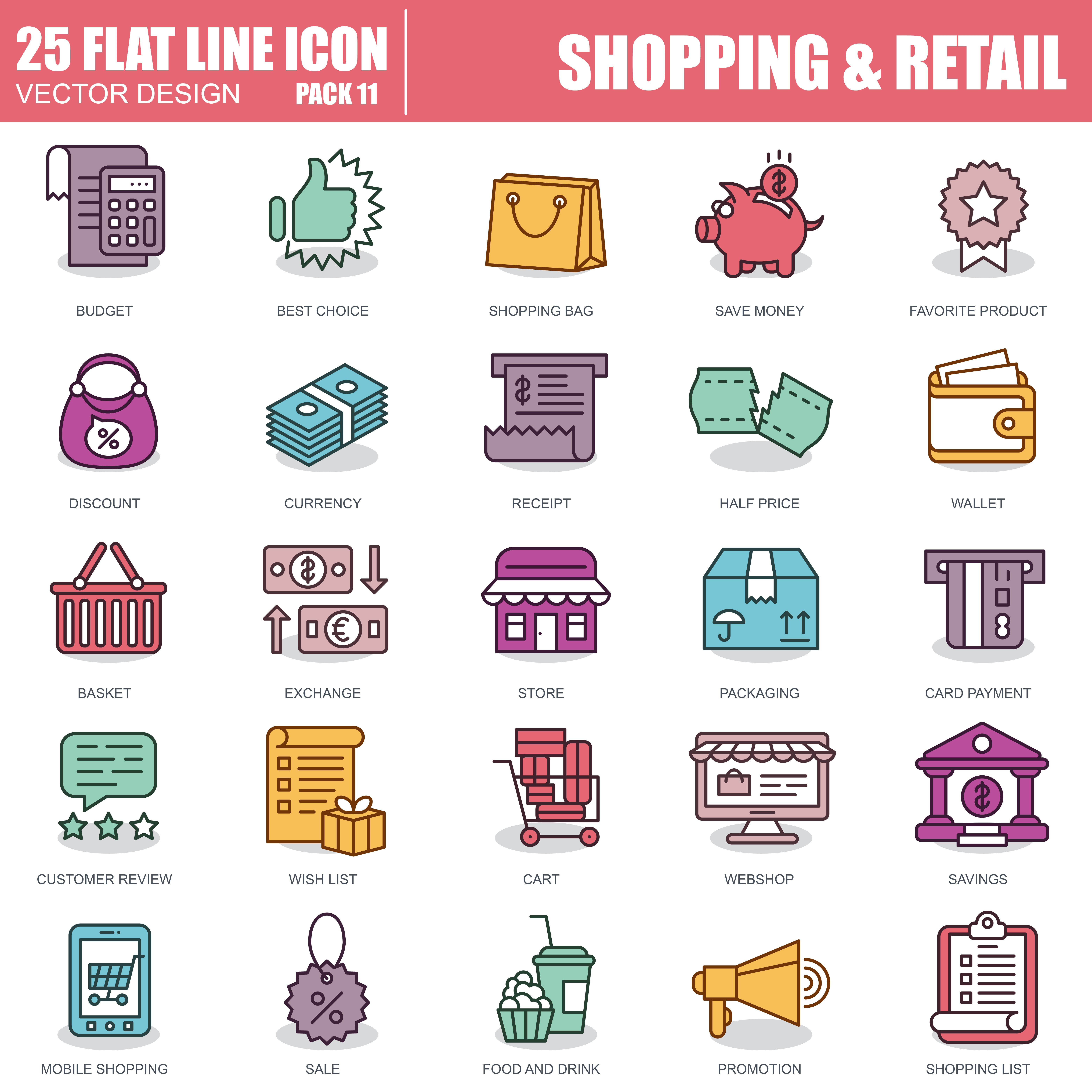 1000 Business Line Icons - just $22 - 11
