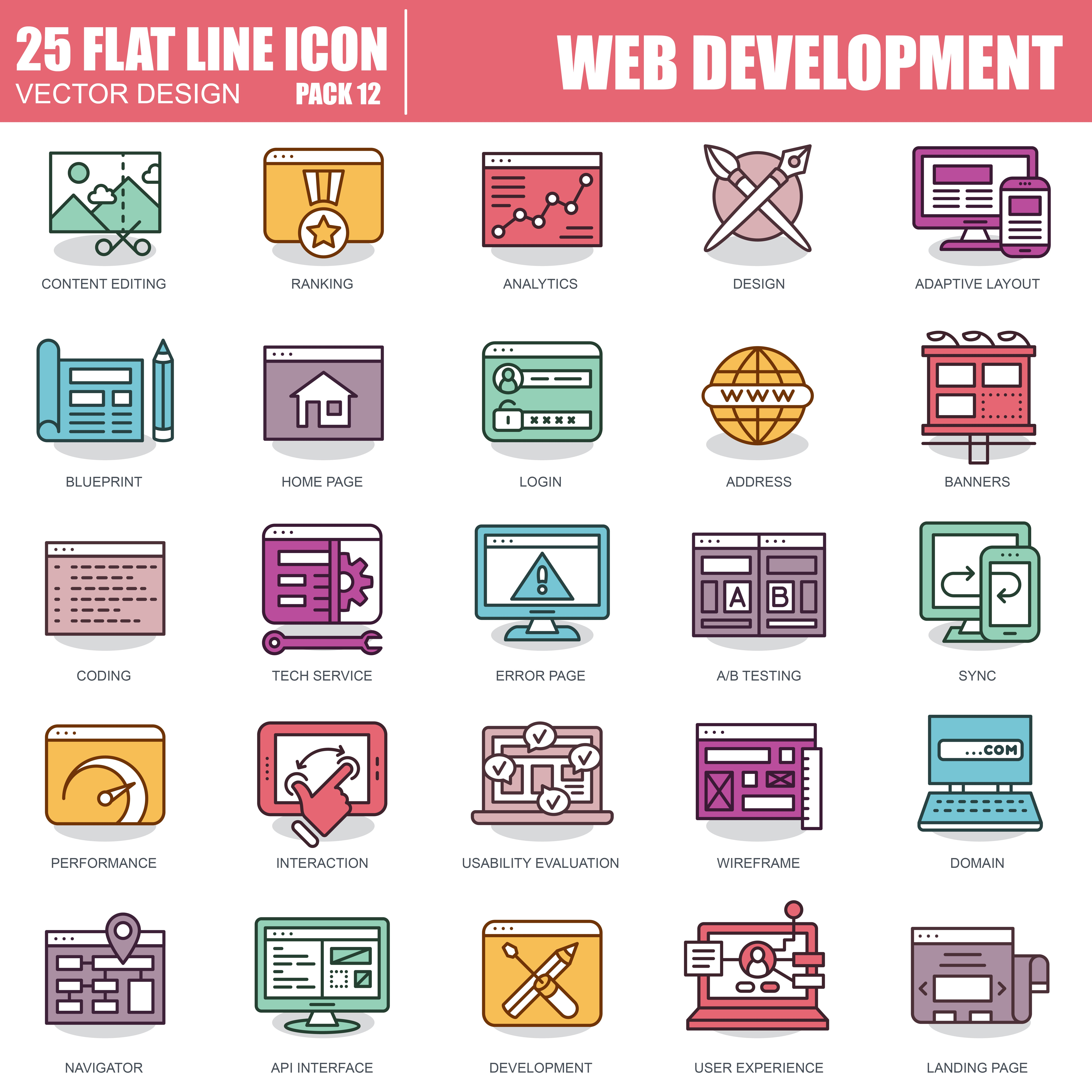 1000 Business Line Icons - just $22 - 12 1
