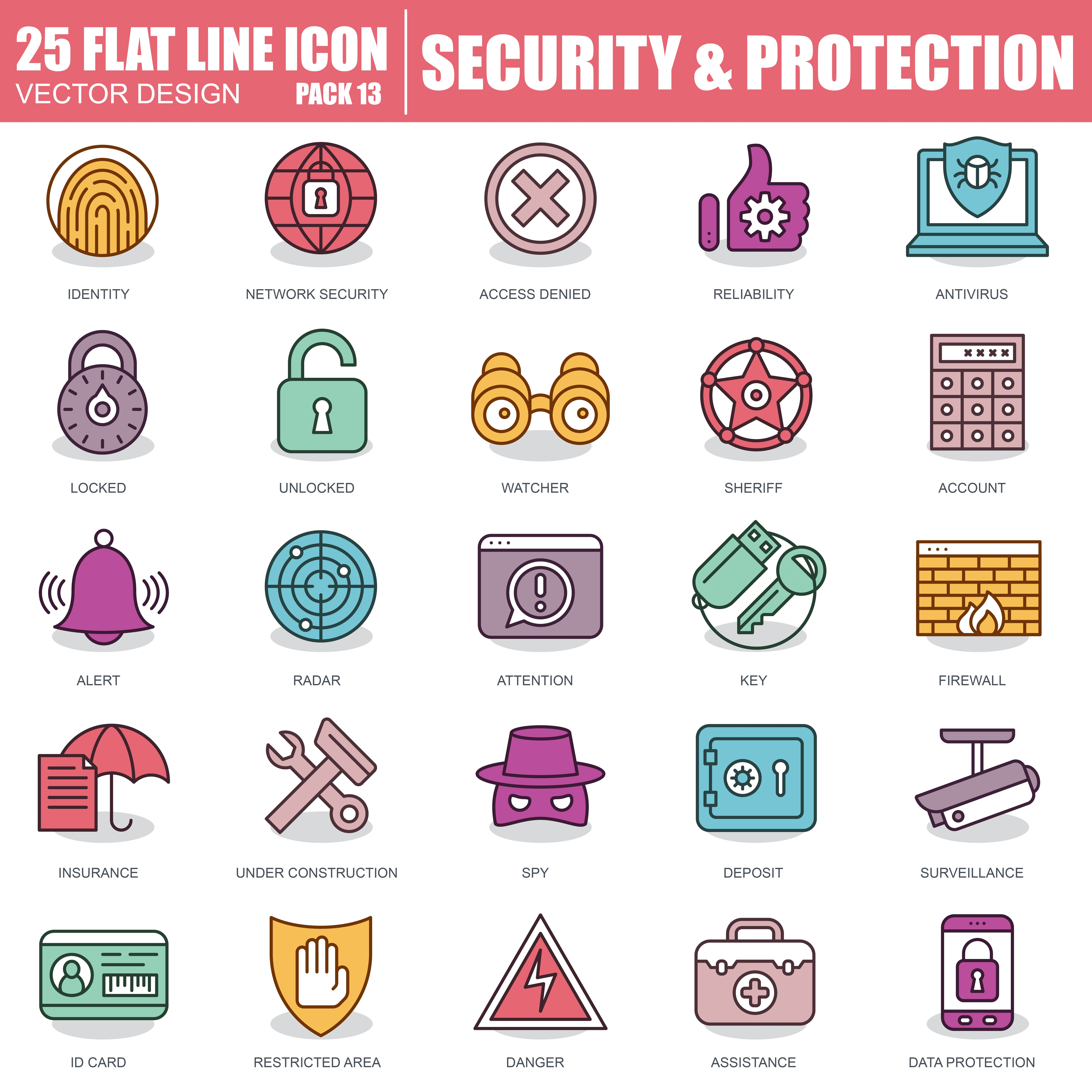 1000 Business Line Icons - just $22 - 13 1