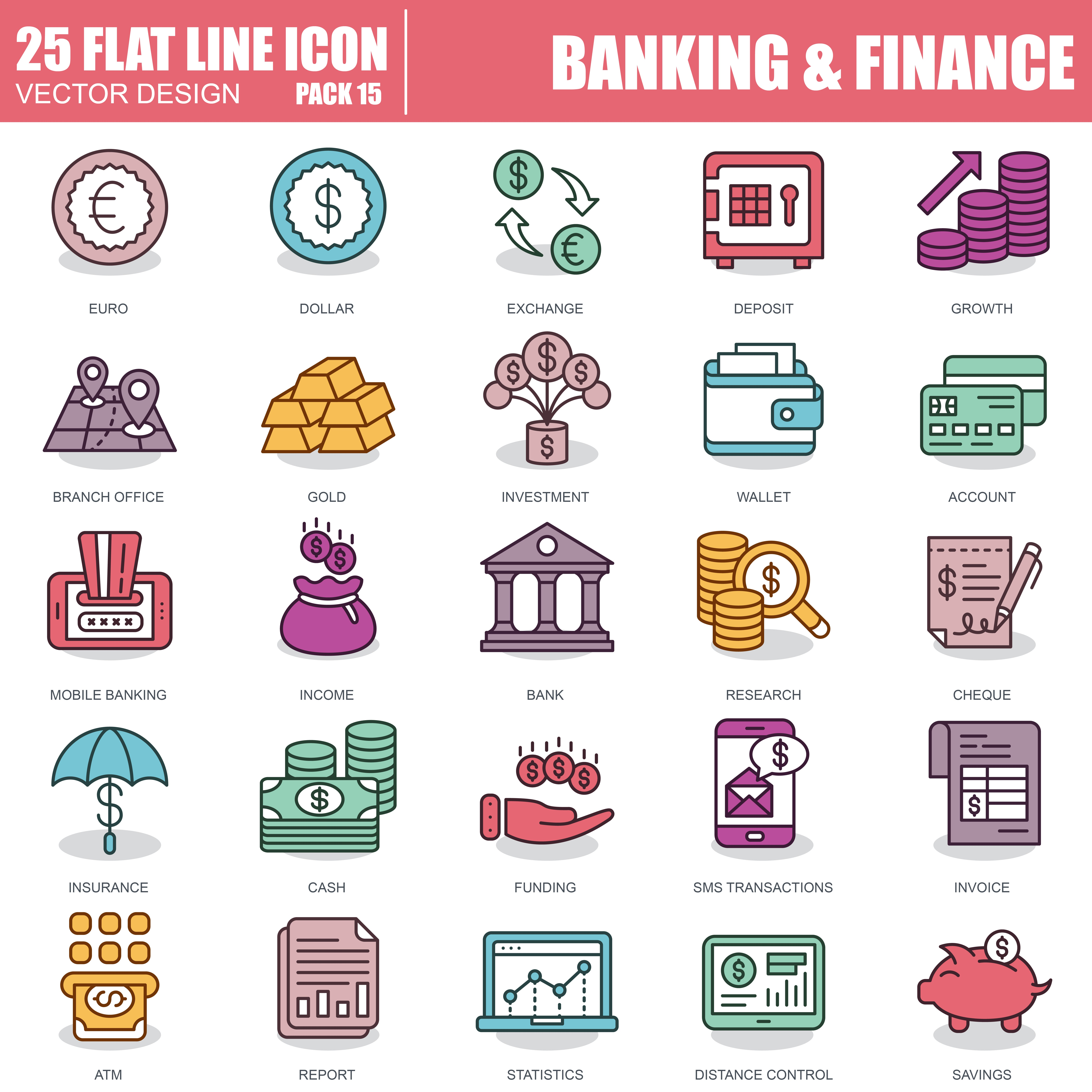 1000 Business Line Icons - just $22 - 15