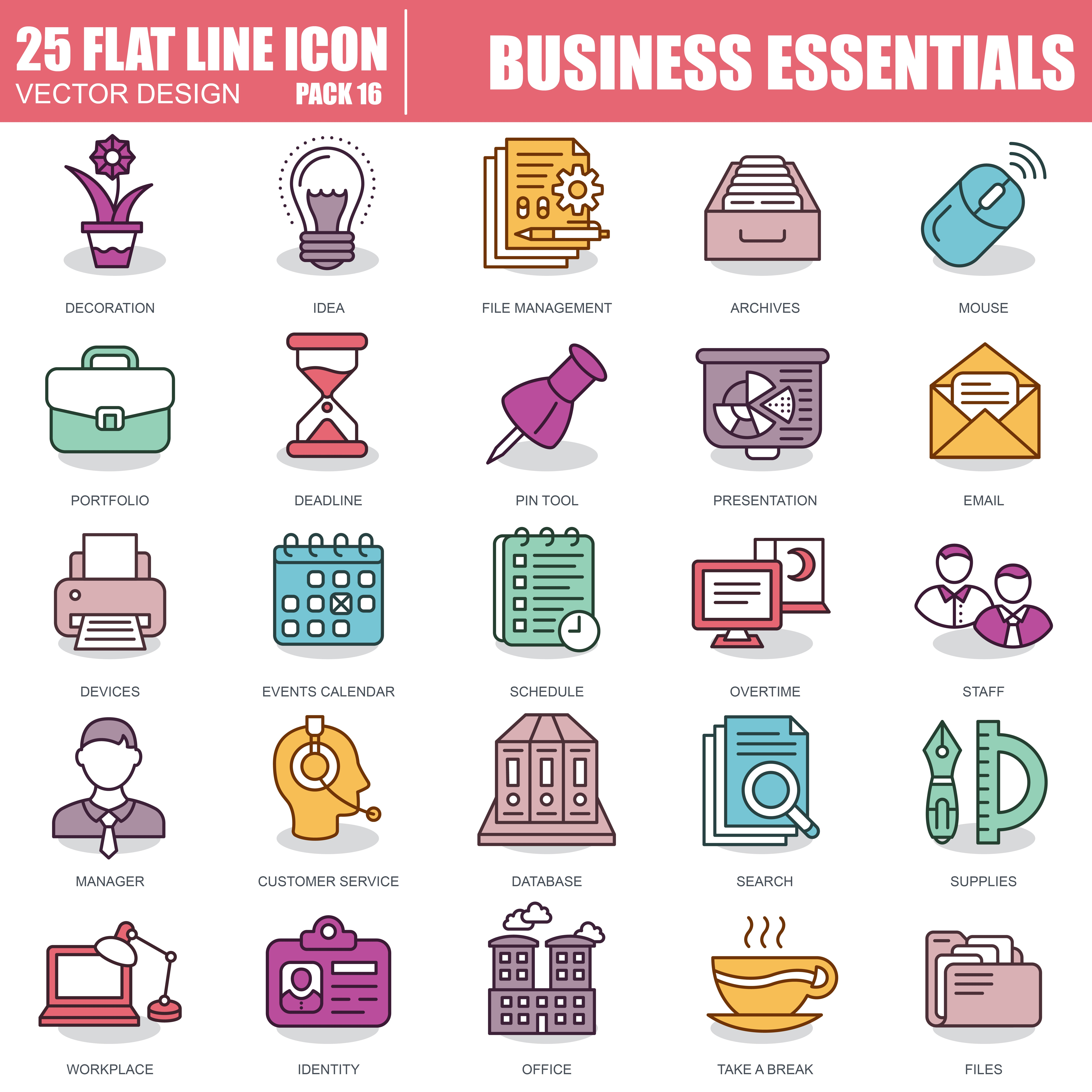 1000 Business Line Icons - just $22 - 16