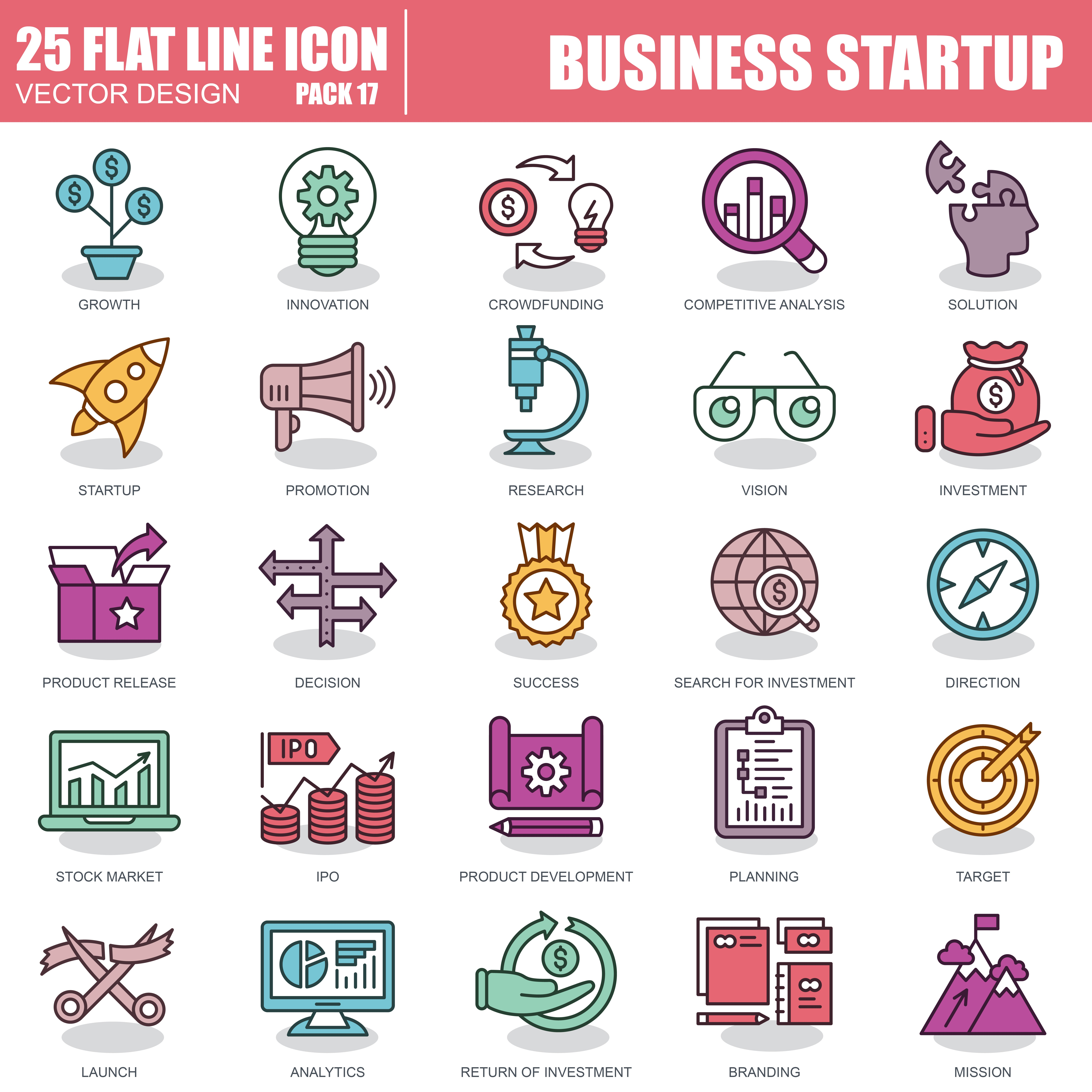 1000 Business Line Icons - just $22 - 17