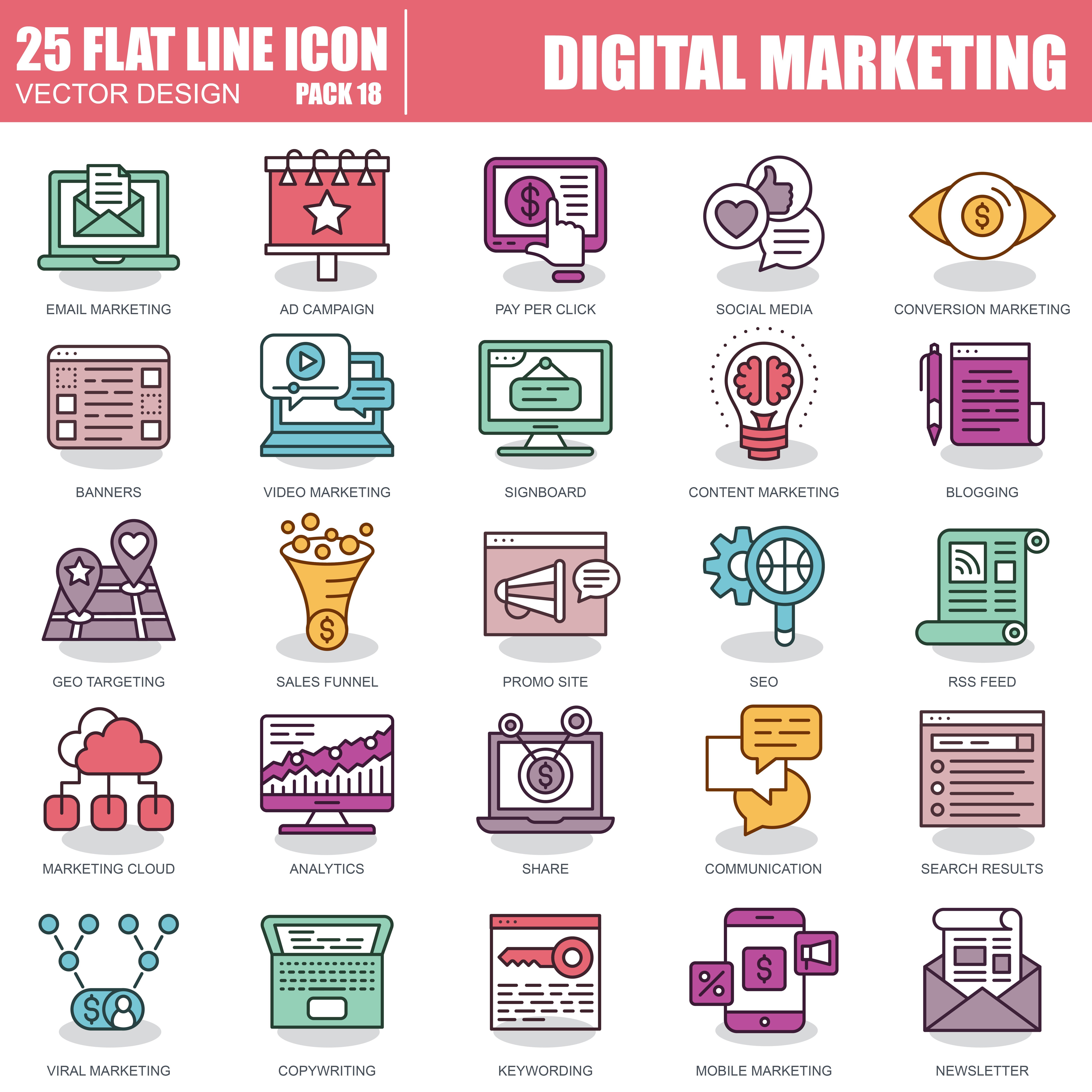 1000 Business Line Icons - just $22 - 18