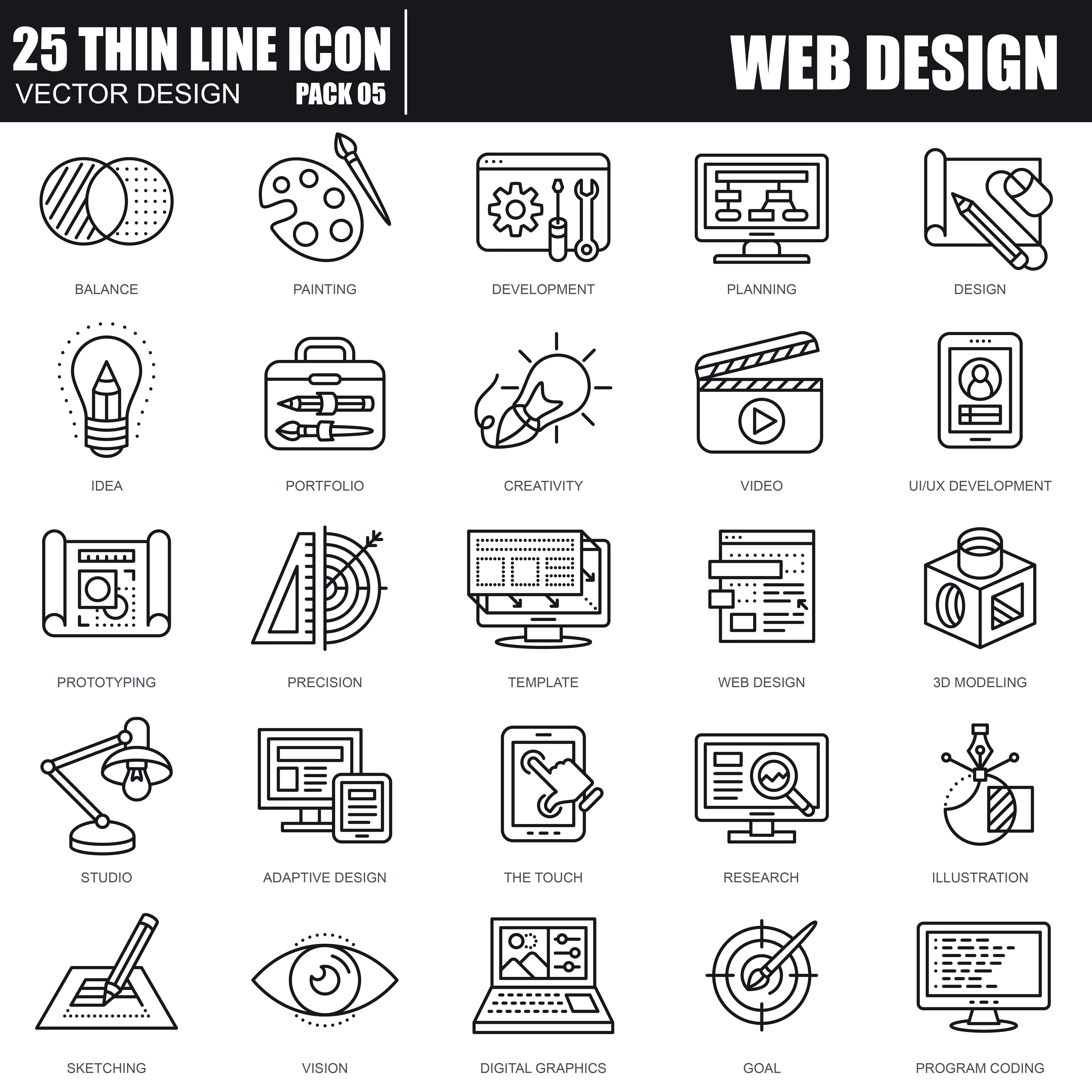 1000 Business Line Icons - just $22 - 25