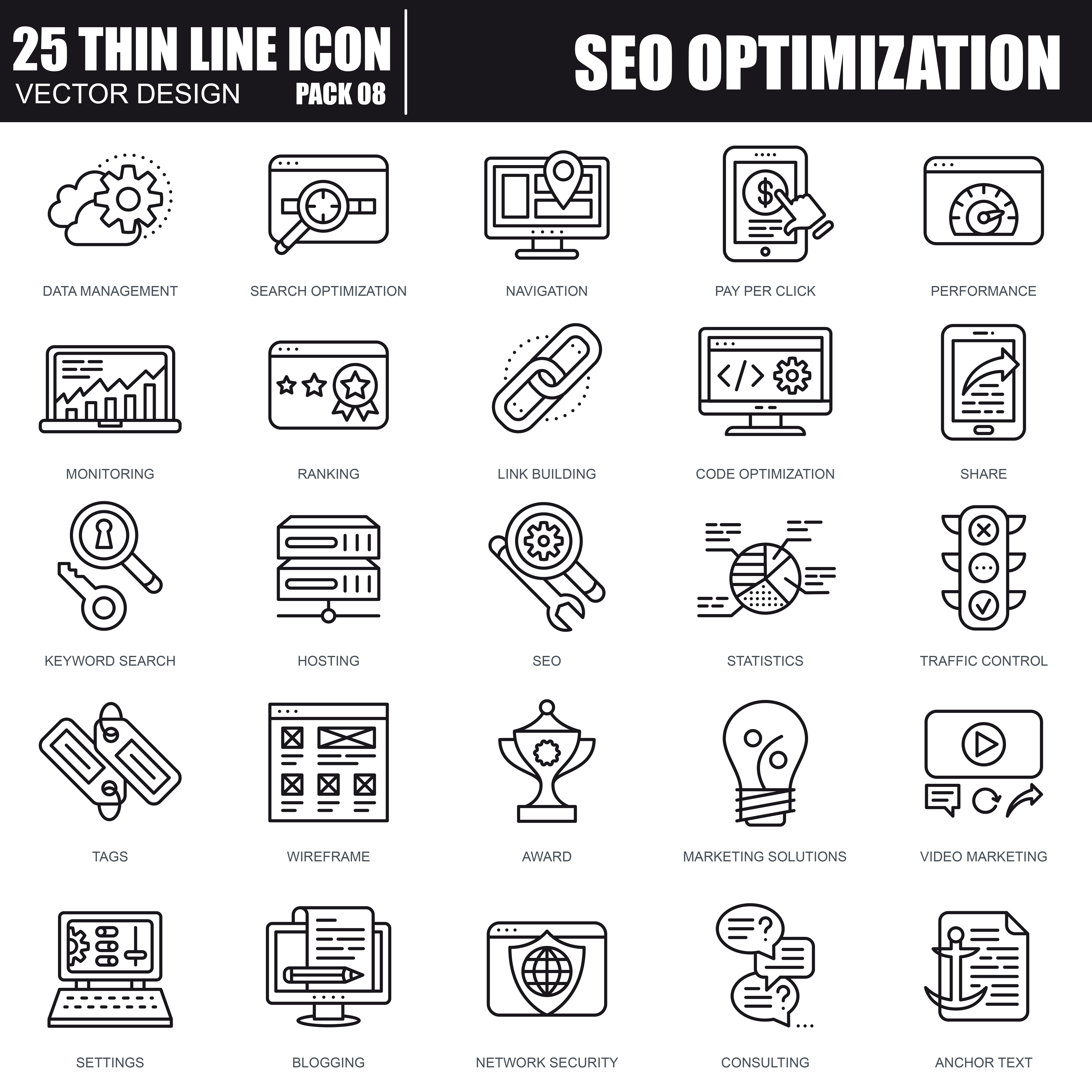1000 Business Line Icons - just $22 - 28